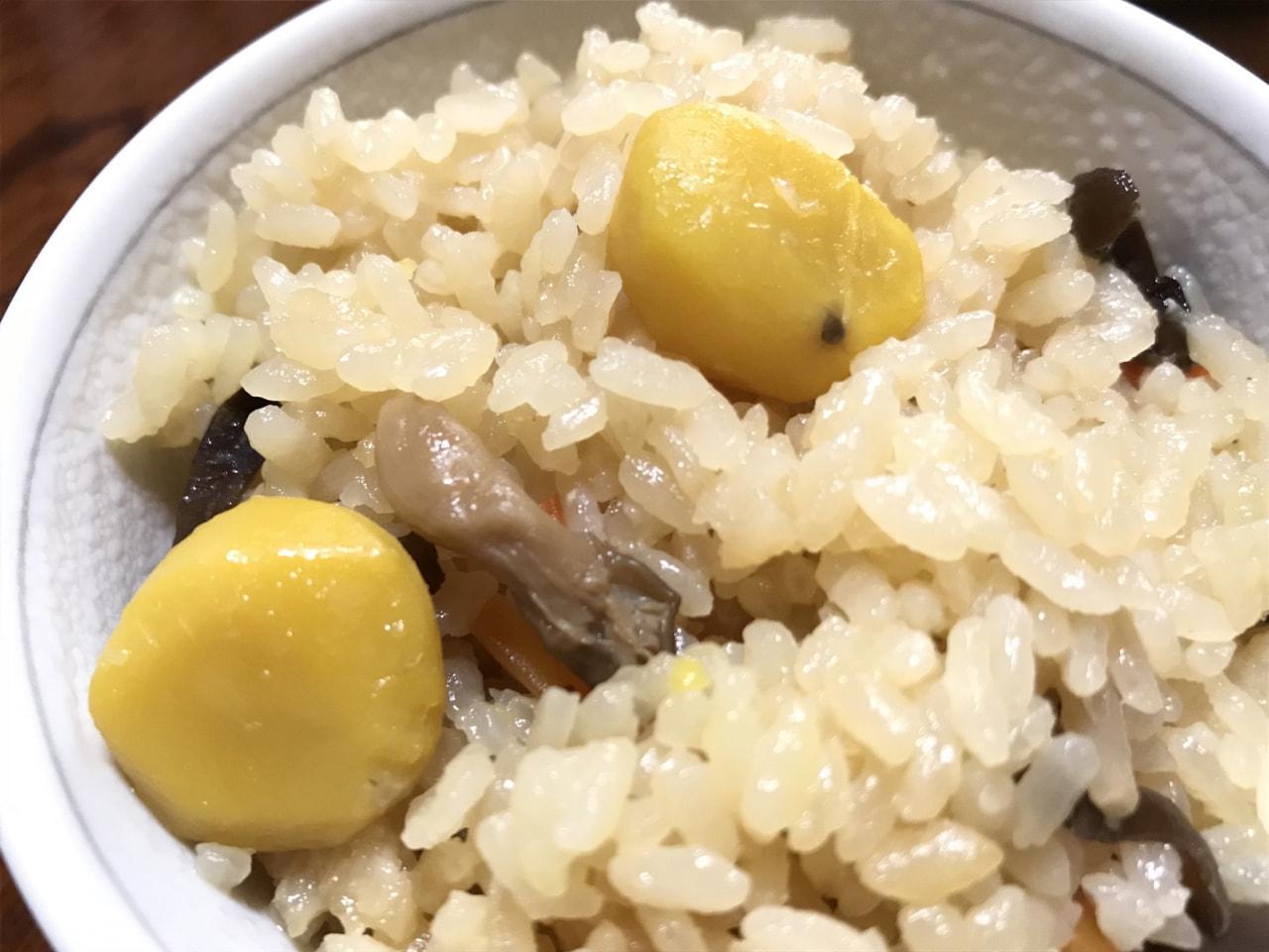 栗とキノコの炊き込みご飯