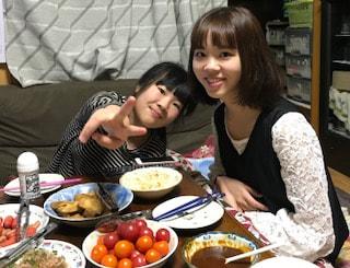 姪達と一緒の夕食♪